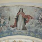 Der Rundbogen mit der hl. Agatha