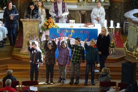 Vorstellmesse der Erstkommunionkinder, am 8. März 2015