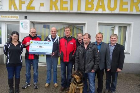 Spende für die Kirchensanierung von KFZ Reitbauer und MSC St. Agatha